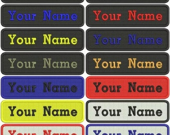 Name patch, custom name embroidered name tag, sew on name patches
