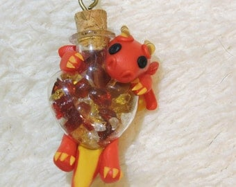 Fire Dragon Heart necklace