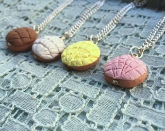 Concha necklace pan dulce Mexican sweet bread