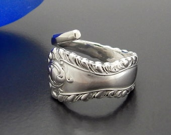 Antique Solid Sterling Silver Fork Ring - Cutlery Jewelry - Pickle Fork Ring - English 925 Sterling Silver Fork Jewelry