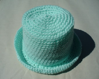 Baby-Green 15in Acrylic Hand-crocheted Baby Hat
