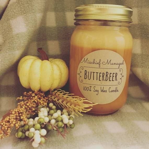 ButterBeer 16 oz Soy Candle