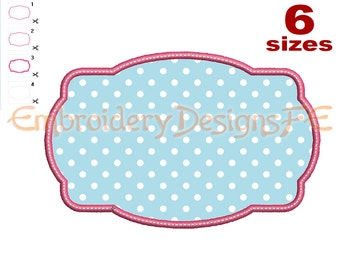 SALE !!! Frame Applique Design - 6 sizes - Machine Embroidery Design File