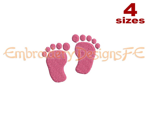 baby foot print mini embroidery design 4 by. Black Bedroom Furniture Sets. Home Design Ideas