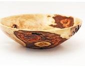 Bark Inclusion, Maple Burl Wood Bowl