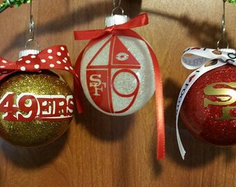 49ers ornament �C Etsy