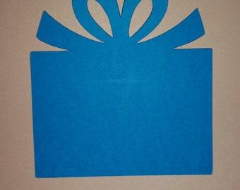 Set of 10 die cut presents