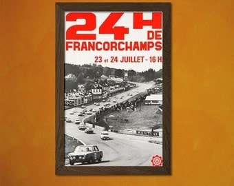 Endurance Racing 24h Of Francorchamps Poster 1958  - Vintage Car Poster Advertising Retro Wall Decor Office decoration(240591608)