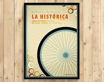Poster - La Historica Poster Race Advertising Bike Retro Design Art Print  (231409860) Reproductiont