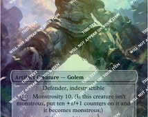 Colossus of Akros ** Magic Casual Play Only ** MTG Altered Art Custom Foil