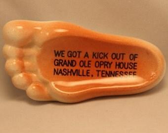 Ashtray Vintage Foot Shaped Ceramic Ashtray From Nashville, Tennessee Ring/Coin Dish
