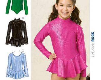 Kwik Sew sewing pattern K3508 Girls Leotard with Optional Skirt, 4 Styles, Girls, Childs, Childrens - new and uncut