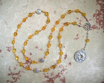 Belenos (Belenus) Prayer Beads in Citrine: Gaulish Celtic God of the Sun