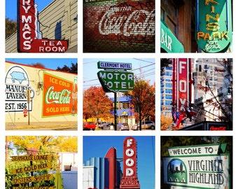 Atlanta Cityscape Custom Tile Photo Coasters