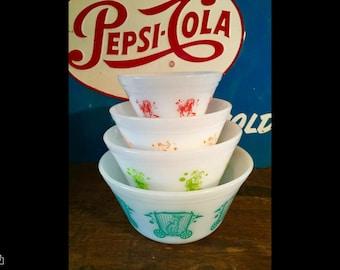Vintage federal bowls CIRCUS