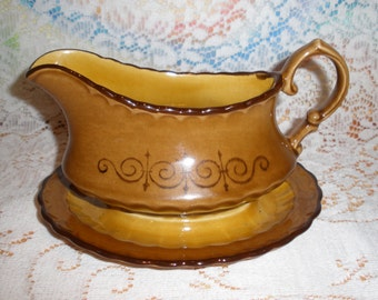 Metlox San Fernando Gravy Boat Vintage 1960's Vernon Ware Discontinued Serving Dining Replacement