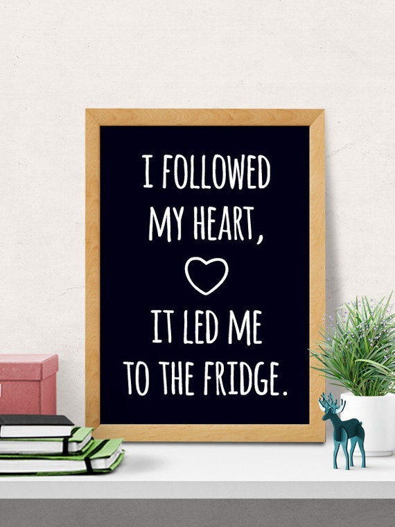 Fridge Love Quote Kitchen Wall Decor Funny Kitchen Art