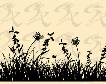 0240_Vector Grass SVG,DXF,ai, png, eps, jpg, flowers Silhouette,elite decoration clipart Silhouette,Download files, Digital, graphical