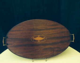 Vintage 1940s wooden serving tray