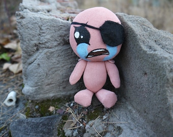 Kain doll from The Binding of Isaac video game, doll of video game character, cute gift for gamers, small toy for geek home decor