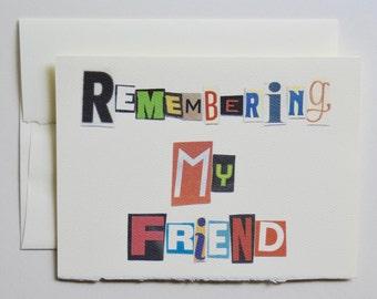 Remembering My Friend