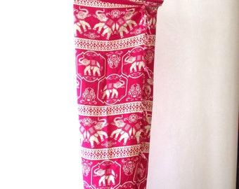 Elegant Soft Pure Cotton Sarong - Beachwear Sea - FARAWAY - Fantasy Elephants - Faraway
