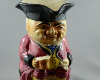 Vintage Toby Character Jug Ale Beer Drinker with Pipe Japan Glazed Ceramic