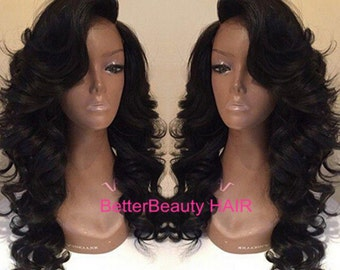 naked virgin human body wave hair lace front  wig&full lace wigs glueless natural hairline human hair wigs for women