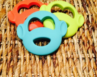 Monkey silicone baby teething toy!!