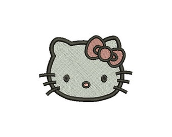 Embroidery design - Hello kitty cat  - INSTANT download machine embroidery