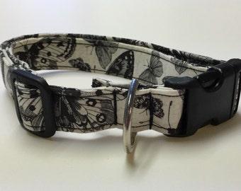 Adjustable Butterfly Print Dog Collar