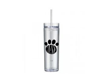 Pet Lover Dog Name Paw Print Tumbler, Personalized Tumbler, Dog Lover Gift, Pet Lover Gift Tumbler, Custom Tumbler, Personalized Gift