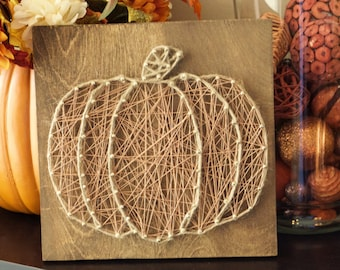 Twine Pumpkin String Art Halloween Thanksgiving
