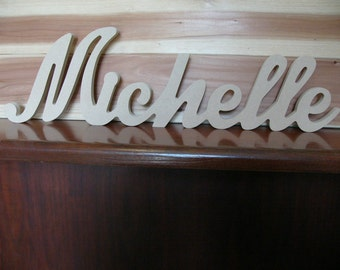 Wooden Name  Free Standing