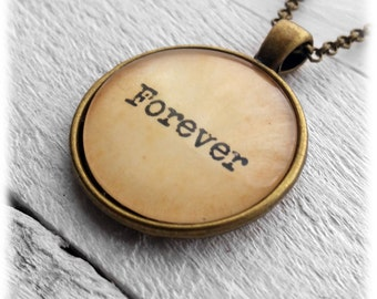 Forever Pendant and Necklace