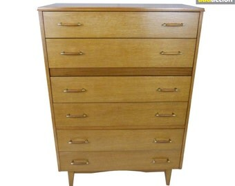 1960/70s Oak Veneered Chest of Drawers, 69952