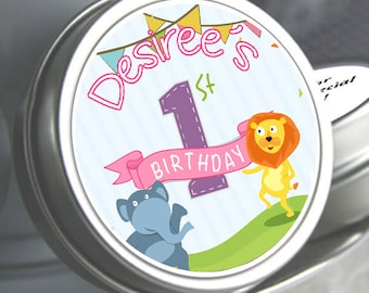 12 First Birthday Party Favors - First Birthday Mint Tins - First Birthday Candy Favors - First Birthday Favors - First Birthday Decor - 1st