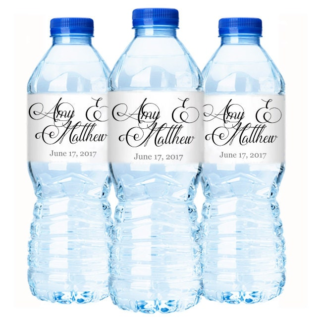 wedding water bottle labels personalized water bottle labels