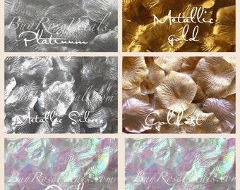 500 Metallic Rose Petals - Silk Rose Petals