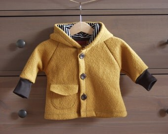 "Warm Coat ""Robin"", new wool"