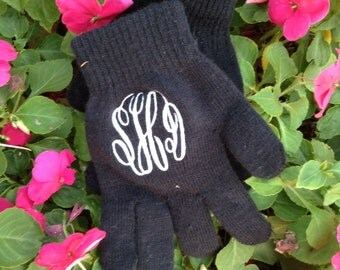 Monogram Gloves ~ preppy and classic gloves ~ monogrammed