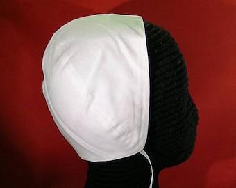 Black or White Cotton Coif  - Renaissance