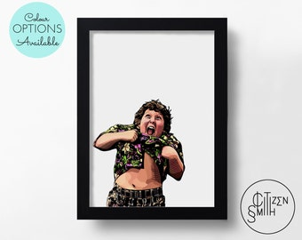 THE GOONIES - Hey, You Guys! - Truffle Shuffle - Steven Spielberg - Black & White/ Colour - Hand-Drawn Film Art Print/ Movie Poster