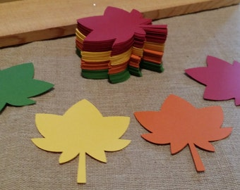 Fall Leaves Die Cut set of 24 Choose your colors