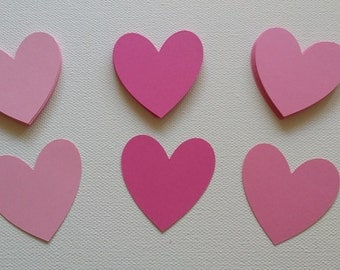 Heart die cuts Set of 25