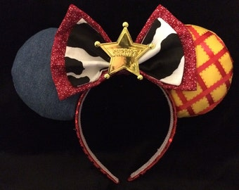 Toy Story Sheriff Woody inspired Mouse Ears