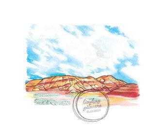 7 Wonders of Oregon: Painted Hills print