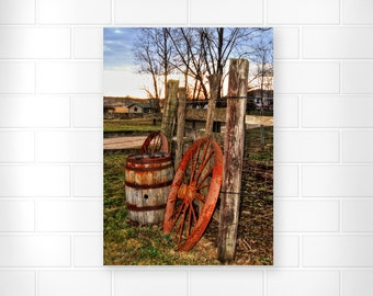 Country Home Decor - Landscape Photography - Wooden Fence Art - Home Decor - Scenic Wall Art - Fine Art Prints - Wall Decor - Nature Prints