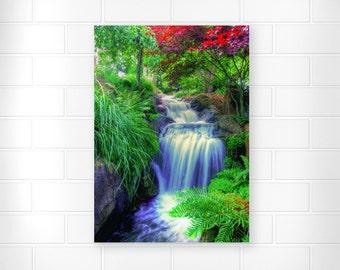 Waterfall Artwork - Photo Print - Scenic Wall Artwork - Waterfall Wall Decor - Landscape Photography - Home Decor - Nature Prints - Wall Art