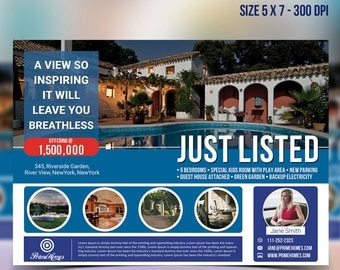 Real Estate advertising Template- Editable in MS word, powerpoint, publisher, photoshop instant download -KOR-021A